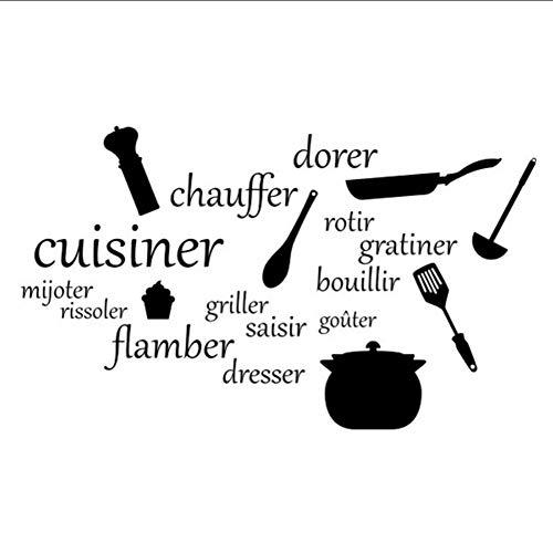 (Mhdxmp)Werkzeuge In Französisch L Aufkleber Für Küche Kreative Aufkleber Für Esszimmer Einfache Raumdekoration Hot97 * 57 Cm