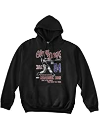 Bathroom Wall Bruce Springsteen Inspired Glory Days, Sudadera con Capucha, L, Negro
