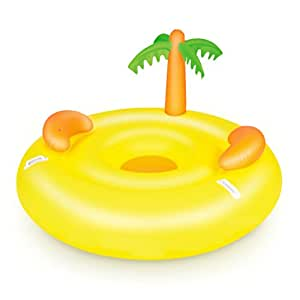 Le gonflable le flottante avec palmier pour piscine vinyle 161 x 91 cm ama - Ile flottante gonflable ...