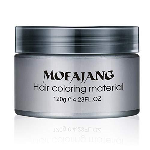 Salon Hair Styling Pomade Silber Asche Oma Graue Haarwachse Temporäre Einweg-Haarfärbemittel Coloring Mud Cream Unisex - Grau