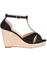KRISP® Femmes Sandales Compensées Plateformes Salomé Mode