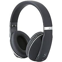 Whitelabel MusicStudio plegable auricular bluetooth / auricular inalámbrico / auricular Bluetooth, llamados libres de manos, 3,5 mm puerto de audio,compatible con la mayoría de teléfonos inteligentes (Negro y Plata)