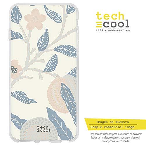 (Funnytech iPhone X Hülle SchutzHülle Soft TPU Silikon Transparent für iPhone X l Case, Cover, Handy, High Definition Druck [Textura Flores Color Pastel Ver. 2])