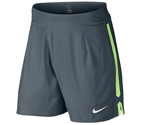 Nike - Nike Gladiator Premier 7 inch Herren Tennisshort (grau/grün) - 2XL
