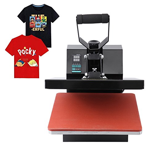 Ridgeyard Professional Hitze Presse Maschine überführungsmaschine T-Shirt Thermotransfer Sublimations Maschine 38cm x 38cm 0-250℃ heat press 220V