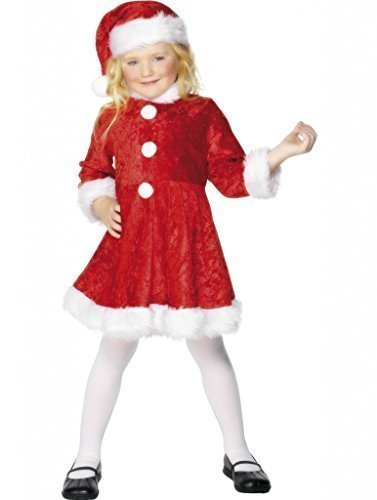 Per bambine Mini da Babbo Natale Mrs Claus Babbo Natale Festive taglia (Claus Kostüm Mrs Mädchen Für)