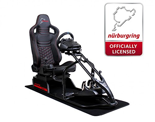 SPEEDMASTER ® Pro Schwarz - Carbonfaser Optik - Nürburgring Edition - Rennsitz - PS4 XBOX - Simracing