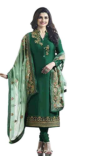 Flourishing Collections Women's Embroidered Semi-Stitched Dress Material