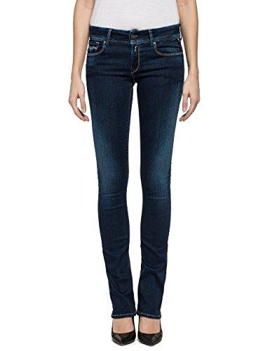 Replay Women's Women's Dark Blue Slim Bootcut Jeans In Size 26W 34L Blue