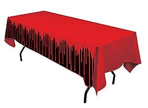 Forum Novelties X79040 Bloody - Funda para mesa, color rojo y negro, talla única