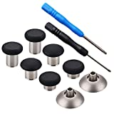 YoRHa 8 in 1 Metall Magnetische Thumbsticks Analog Sticks Joysticks Ersatz Reparatur Kits (schwarz) für PS4/Slim/Pro & Xbox One/Elite/X/S Controller mit Schraubendreher