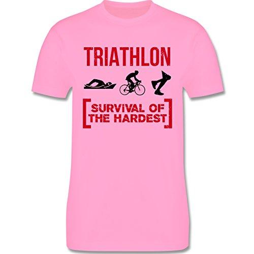Sonstige Sportarten - Triathlon - Survival of the hardest - Herren Premium T-Shirt Rosa