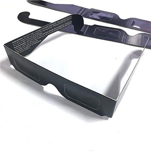3D Brille 100Pcs / Lot Sichere 3D-Papier-Sonnenbrillen, Eclipse-Betrachtungsbrillen Papier Schwarz Drucken, Schwarz