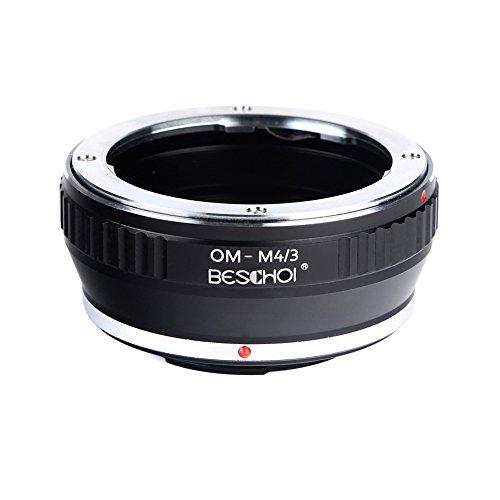 Adaptador de Lente OM-Micro 4/3, Beschoi Adaptador de Montaje para Olympus OM Lente a cámara Micro MFT, M4 / 3, Adaptado a las Cámaras Olympus PEN y Panasonic Lumix