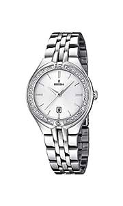 Festina - F16867-1 - Montre Femme - Quartz Analogique - Cadran Blanc - Bracelet Acier Argent