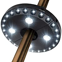 Patio Umbrella Light 3 Brightness Modes Cordless 28 LED Lights at 200 lumens- 4 x AA Battery Operated,Umbrella Pole Light for Patio Umbrellas,Camping Tents or Outdoor Use