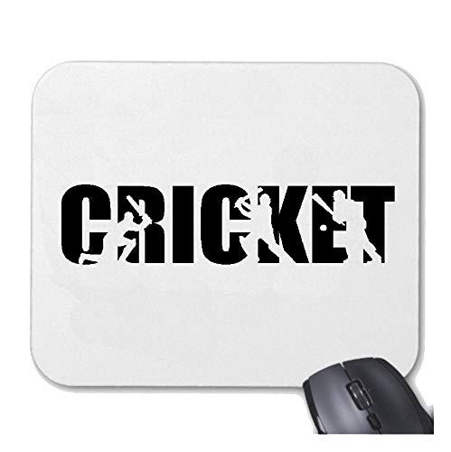 Helene Mousepad (Mauspad) Cricket - BRETTSPIEL - EIS Sport - Cricket Spieler - Cricket Spielerin für ihren Laptop, Notebook oder Internet PC (mit Windows Linux usw.) in Weiß (Cricket-spieler)