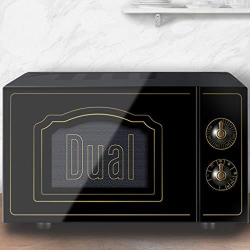 Unbekannt Retro-Mikrowellen-Konvektionsofen, 0.7 Cu.ft 9-Gang-Toaster-Ofen für Popcorn, Kaffee, Edelstahl Smeg Kleine kompakte Mikrowelle für Schlafsaal (Farbe : SCHWARZ)