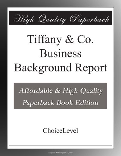 tiffany-co-business-background-report