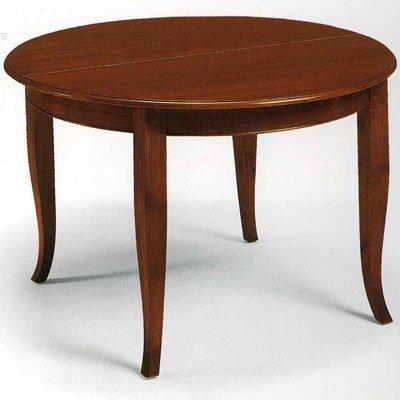 Tisch, Esstisch Nußbaum Durchmesser 100 cm mit 1 Verlängerung - Italienischer Produktion