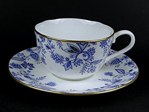 Cup and Saucer Set - Noritake Blue Sorrentino Single with
