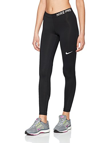 Nike Damen Pro Tights, Black/White, M