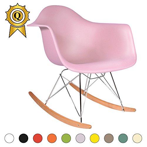 Promo 1 X Schaukelstuhl Schaukelstuhl Eiffel Füße Helles Holz Sitzfläche  Mobistyl® Rarl M