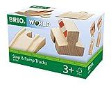 BRIO World Railway Track - Ramp & Stop Pack