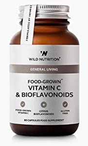 Wild Nutrition Food-Grown Vitamin C & Bioflavonoids - 60 Capsules