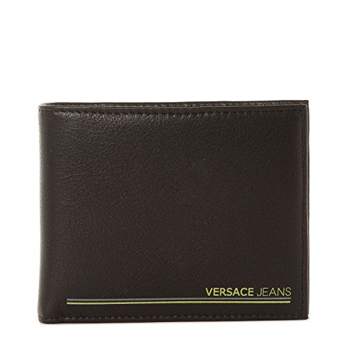 Versace Jeans Portafoglio in pelle di colore nero