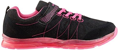 KangaROOS Kangagirl EV SL, Sneaker Unisex – Adulto Schwarz (Jet Black/Daisy Pink)