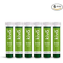 Kiva Wheatgrass Juice | Tasty Ready-to-Drink Ayurvedic Shot | Skin Cleansing & Detoxifying Wellness Shots | (40 ml per Shot) (Pack of 6 Shots)