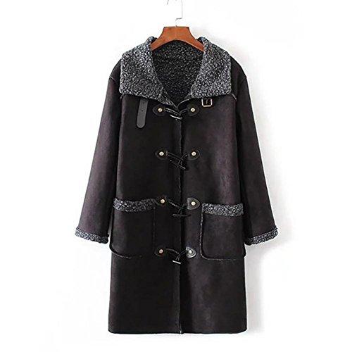 YUYU Le donne misto lana Cappotto invernale Premium Lightweight casual a maniche lunghe caldo , l , picture