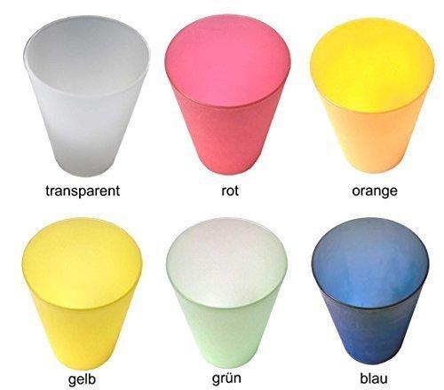 30 Plastik Trinkbecher 0,4 l - Mix-Pack - verschiedene Farben - Mehrwegtrinkbecher / Partybecher / Becher