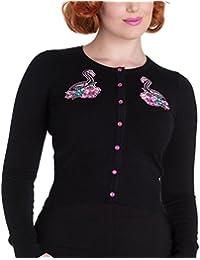 Hell Bunny Ladies Black Cardigan Top SKELEMINGO Pink Flamingo All Sizes