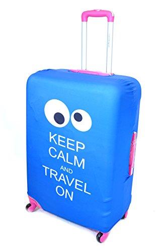 Coprivaligia Cover Per Trolley Grande e Medio Copri Bagaglio Suitcase Clacson (KeepCalm)