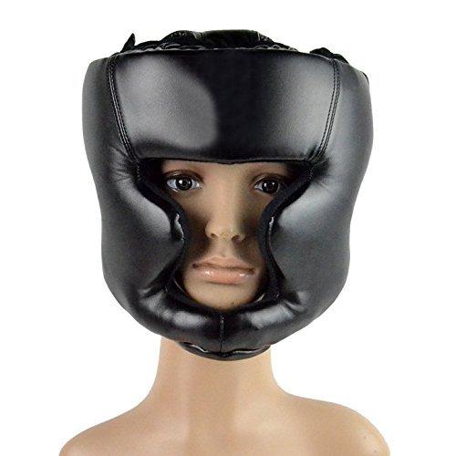 LHGS Kopfbedeckung Guard Head Training Kick Helm Schützen Boxen Gear Schwarz -