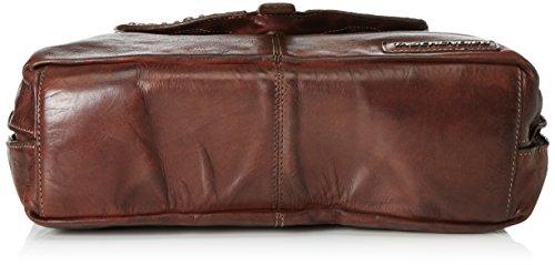 Taschendieb Wien Sac à main porté épaule cuir 35 cm braun