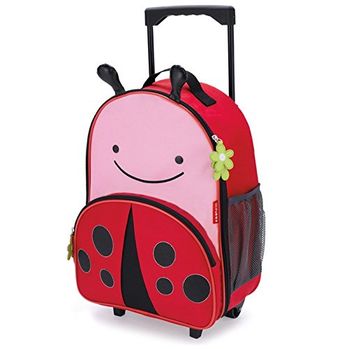 Skip Hop Zoo Luggage, travel trolley for kids, with name tag, multicolored, ladybug livie