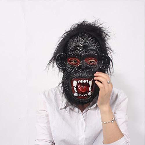 Gorilla Kopf Maske Horror Gruseltier Halloween Maske Latex Cosplay Nachtclub Kopfbedeckung für Party Geschenk (Gorilla Kostüm Hunde)