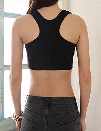 Legou t-shirt de sport pour femme avec soutien-gorge brassière untertop débardeur Gris - Gris