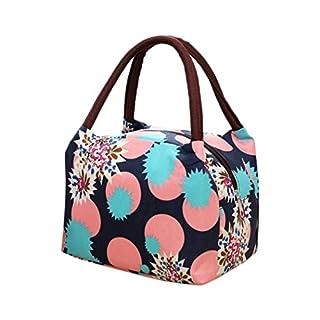 amiubo Durable Women Casual Soft Print Reißverschluss Canvas Handtasche Schrankordnungssysteme