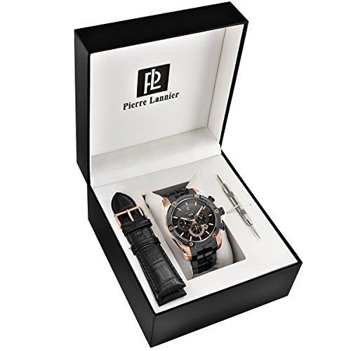 Pierre Lannier Homme Chronographe Quartz Montre avec Bracelet en Acier Inoxydable plaqué 375A039