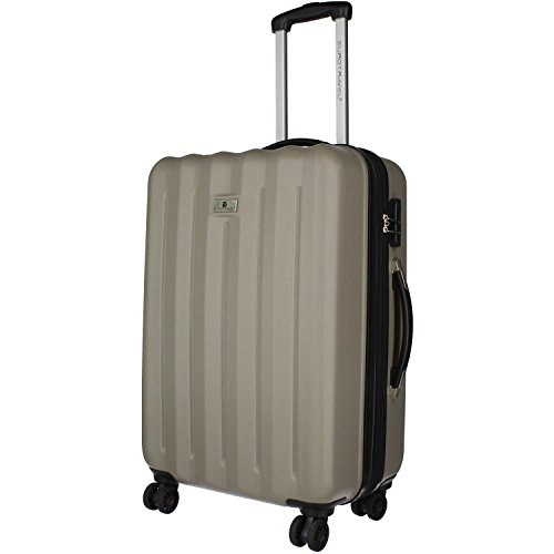 Eurotravel 4 Rollen Koffer ABS 66cm (pink) taupe