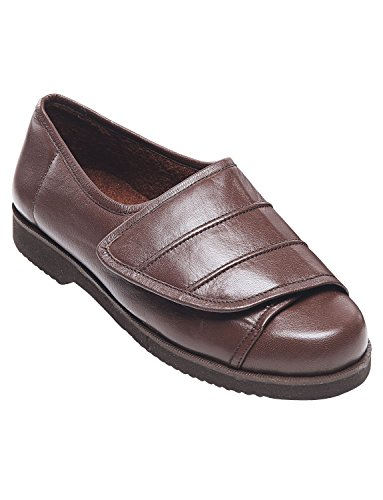 Hommes Ouvrant Complètement Tactile Et Fermeture Velcro Chaussure Marron
