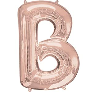 Anagram-Globo de aluminio de 40 cm de la letra B en color oro rosa, dorado, (7A3745311)
