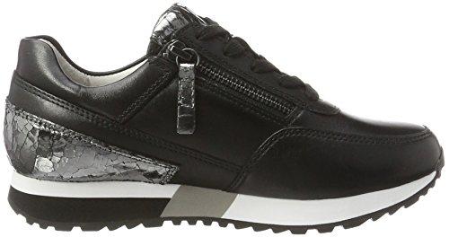 Gabor Shoes Comfort, Scarpe da Ginnastica Basse Donna Nero (schwarz/anthrazit 57)