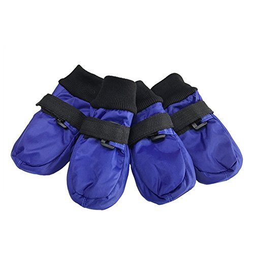 Neu Haustierschuhe Medium und Large Hundeschuhe Pet Products Regenmantel Material Comfort Pet Schuhe Rutschfeste Sohle Blau (Anzahl 4) , M , blue - Sohle Comfort Schuhe