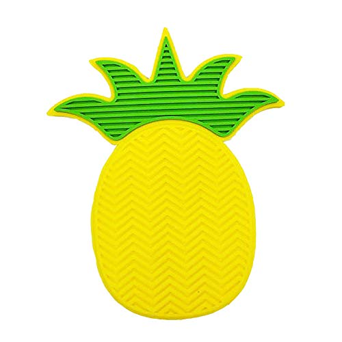 Leisial Nettoyeur pour Pinceaux de Maquillage Silicone Mou Petite Taille Style Ananas