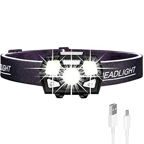Zyl-Long Kopflampe, 7000 Lumen LED-Scheinwerfer-Bewegungs-Sensor Ultra Bright-Schutzhelm-Kopf-Lampen Leistungsstarke Scheinwerfer USB Aufladbare Taschenlampe wasserdichte